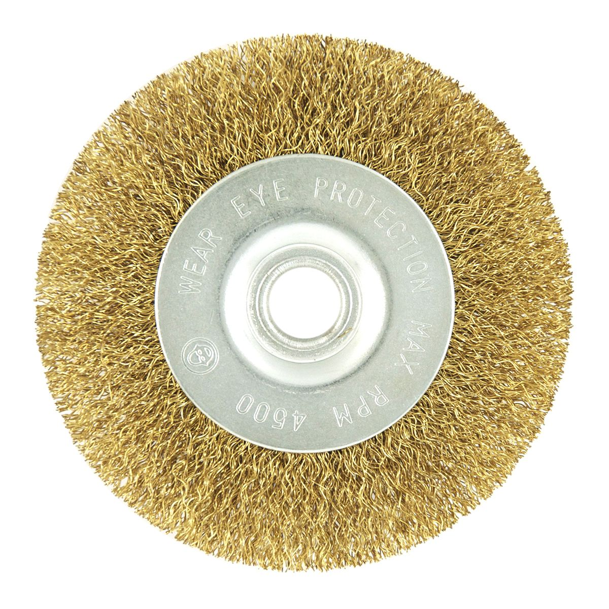 EAB Tool 2160400 2 1//2 Brass Coarse Wire Wheel Wire Brush Recyclable,