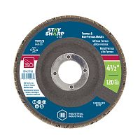 "4 1/2"" x 120 Grit x 7/8""  Wood & Metal Flap Disc - Type 29  Industrial Abrasive"