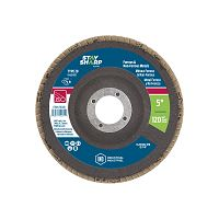 "5"" x 120 Grit x 7/8""  Wood & Metal Flap Disc - Type 29  Industrial Abrasive"