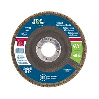 "4 1/2"" x 40 Grit x 7/8""  Wood & Metal Flap Disc - Type 29  Industrial Abrasive"