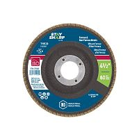 "4 1/2"" x 60 Grit x 7/8""  Wood & Metal Flap Disc - Type 29  Industrial Abrasive"