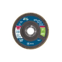 "5"" x 60 Grit x 7/8""  Wood & Metal Flap Disc - Type 29  Industrial Abrasive"