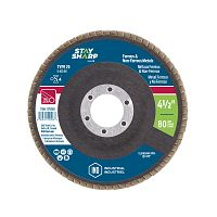 "4 1/2"" x 80 Grit x 7/8""  Wood & Metal Flap Disc - Type 29  Industrial Abrasive"