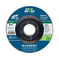 "4 1/2"" x 1/4""   x 7/8"" Standard Masonry Depressed Center Wheel - Type 27  Professional Abrasive"