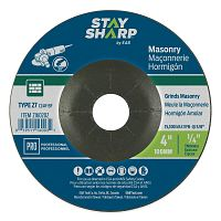 "4"" x 1/4""   x 5/8"" Standard Masonry Depressed Center Wheel - Type 27  Professional Abrasive"