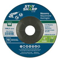 "4"" x 1/8""   x 5/8"" Standard Masonry Depressed Center Wheel - Type 27  Professional Abrasive"