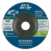 "5"" x 1/8""   x 7/8"" Standard Masonry Depressed Center Wheel - Type 27  Professional Abrasive"