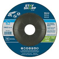 "4 1/2"" x 1/8""   x 7/8"" Standard Metal Depressed Center Wheel - Type 27  Professional Abrasive"