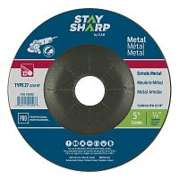 "5"" x 1/4""   x 7/8"" Standard Metal Depressed Center Wheel - Type 27  Professional Abrasive"
