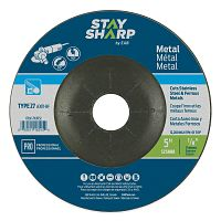 "5"" x 1/8""   x 7/8"" Standard Metal Depressed Center Wheel - Type 27  Professional Abrasive"