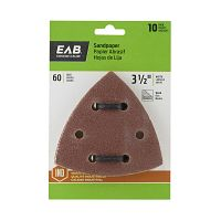 "3 1/2"" x  60 Grit Sandpaper (10 Pack)  Industrial Oscillating Accessory"