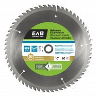 "10"" x 60 Teeth Carbide Melamine   Industrial Saw Blade - Exchangeable"