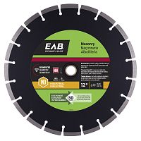 "12"" Segmented Black Industrial Diamond Blade - Exchangeable"
