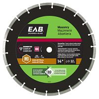 "14"" Segmented Black Industrial Diamond Blade - Exchangeable"